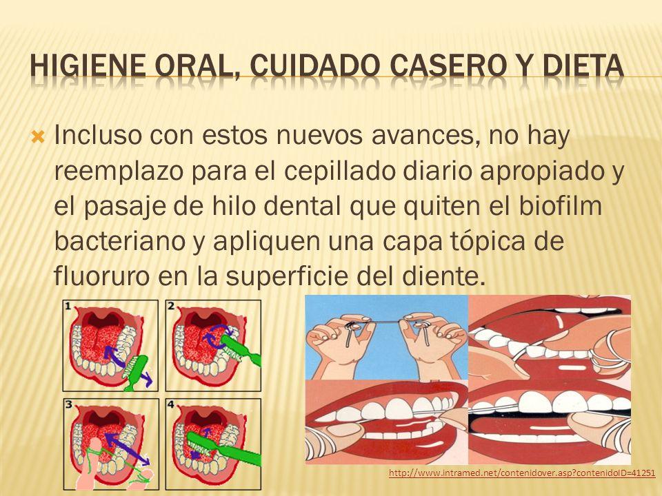 Higiene oral, cuidado casero y dieta