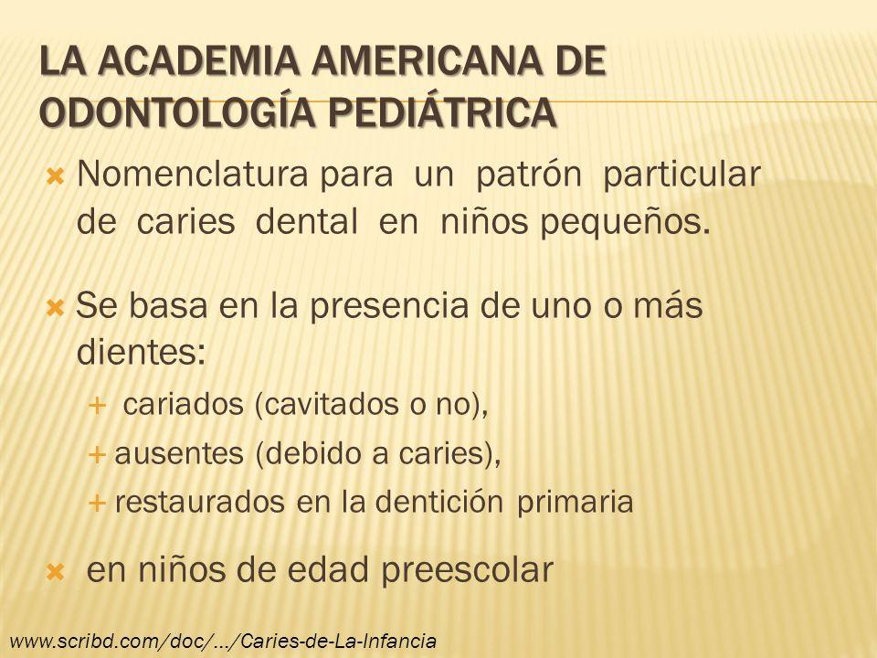 La Academia Americana de Odontología Pediátrica