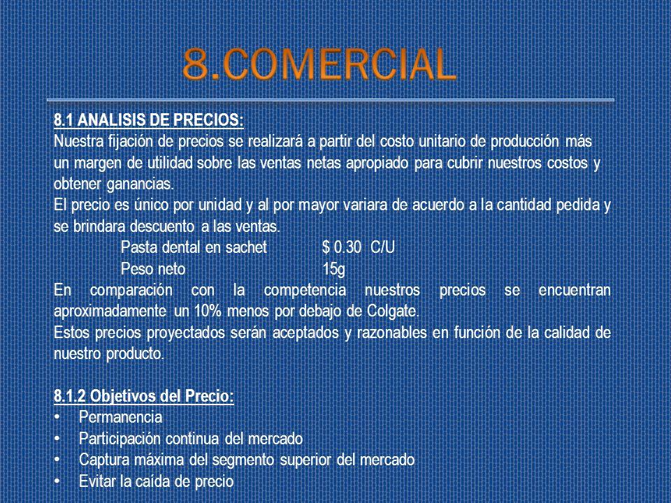 8.COMERCIAL 8.1 ANALISIS DE PRECIOS: