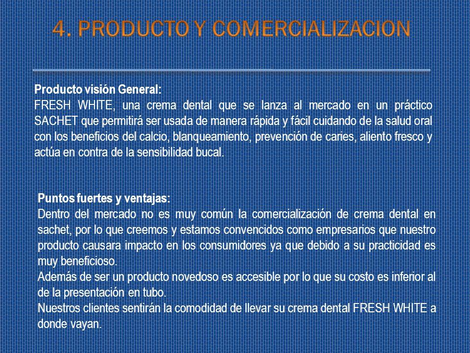 4. PRODUCTO Y COMERCIALIZACION