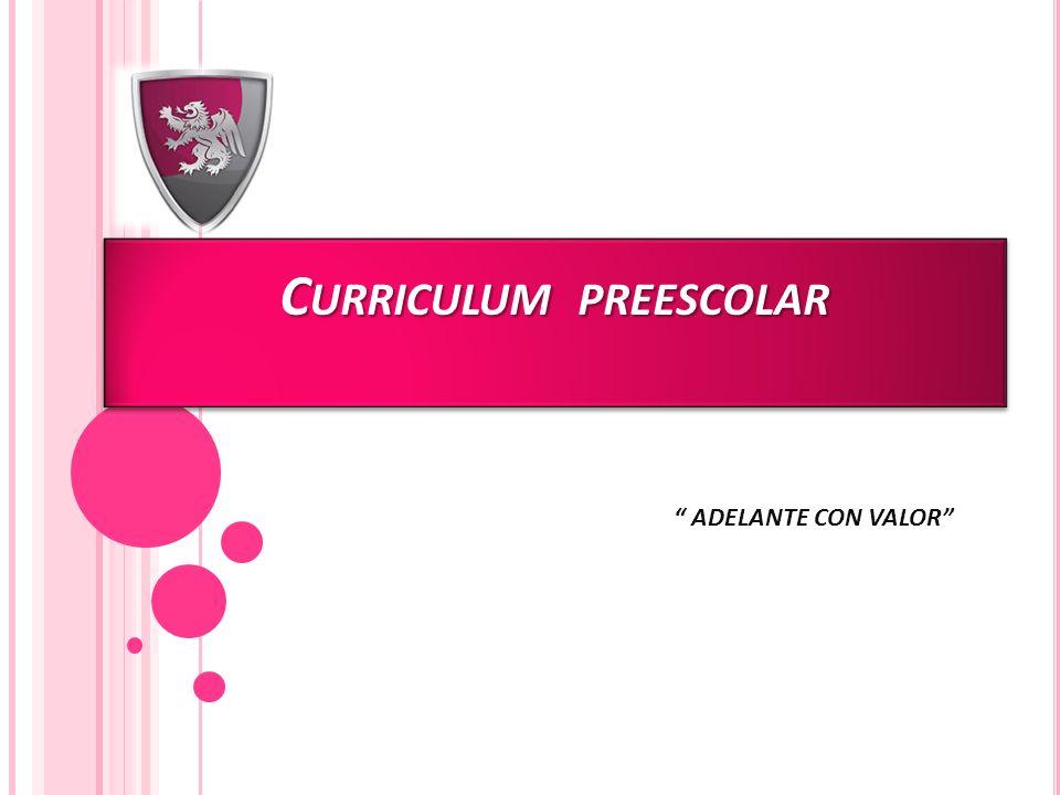 Curriculum preescolar
