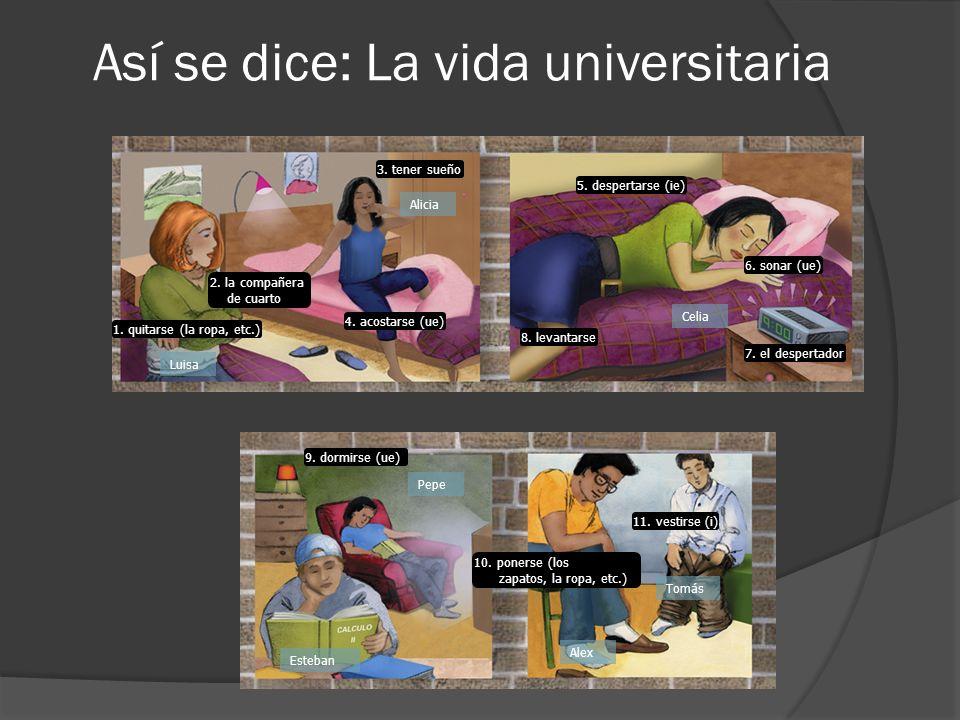 Así se dice: La vida universitaria