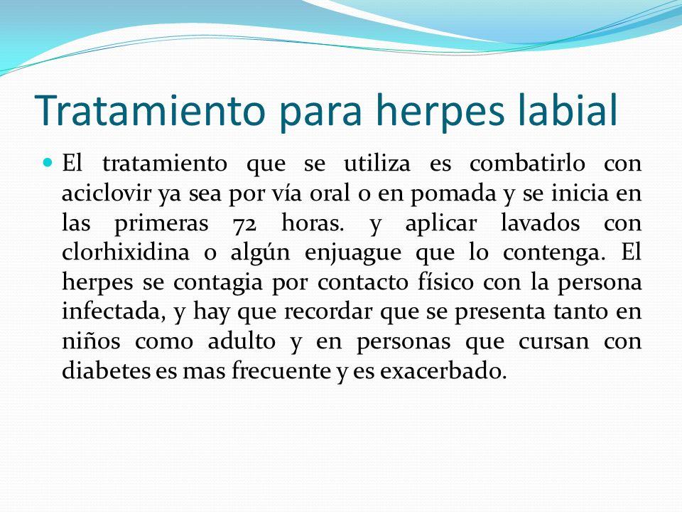 Tratamiento para herpes labial