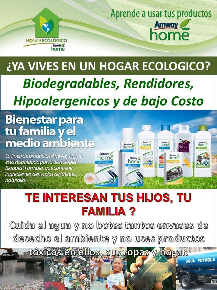 Biodegradables, Rendidores, Hipoalergenicos y de bajo Costo