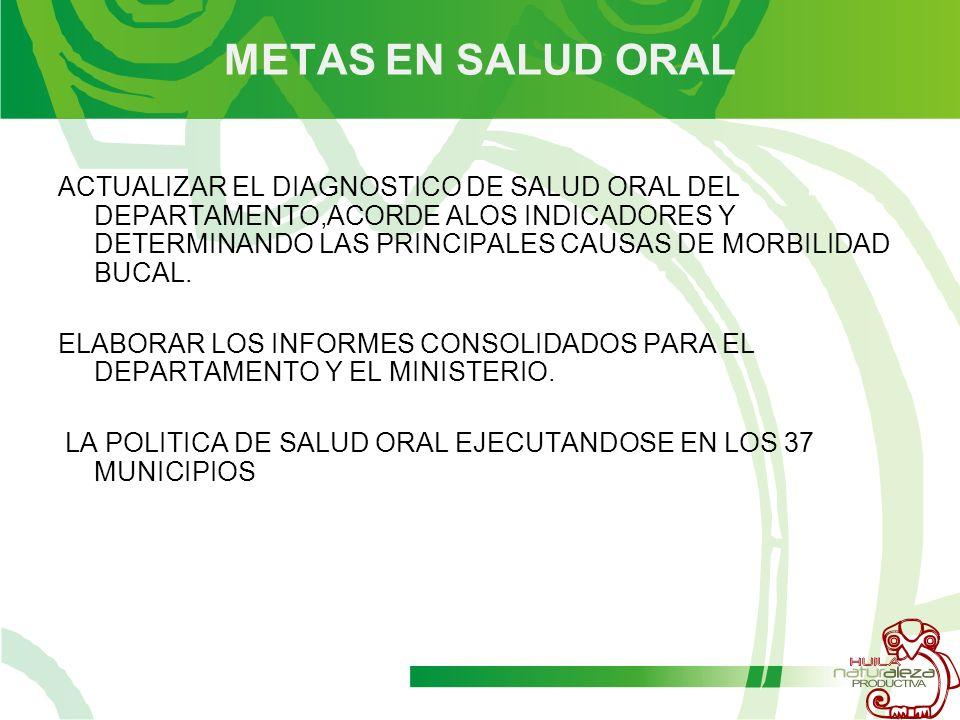 METAS EN SALUD ORAL