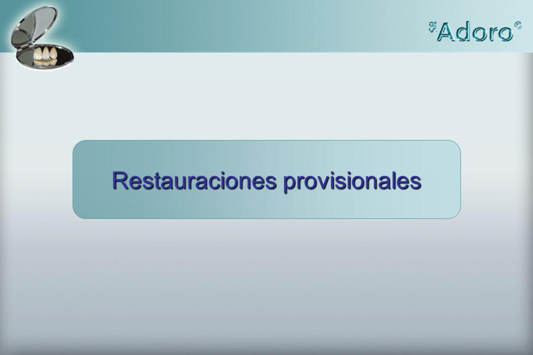 Restauraciones provisionales