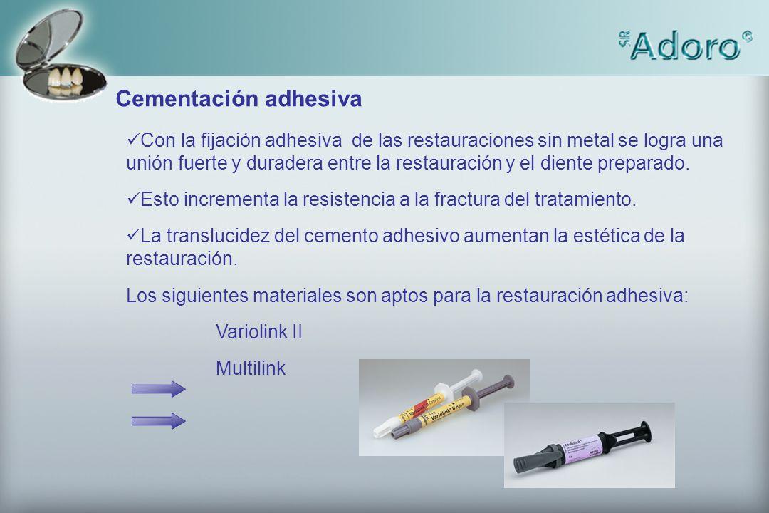 Cementación adhesiva