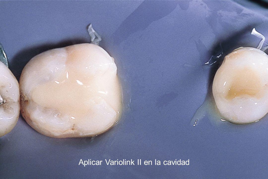 Aplicar Variolink II en la cavidad