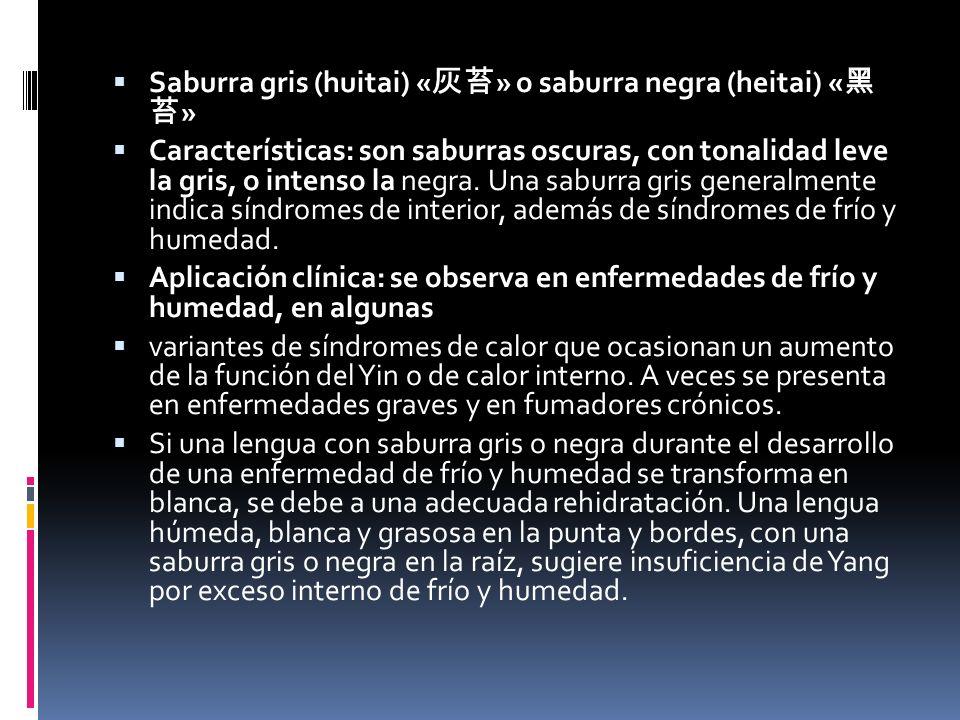 Saburra gris (huitai) «灰苔» o saburra negra (heitai) «黑 苔»