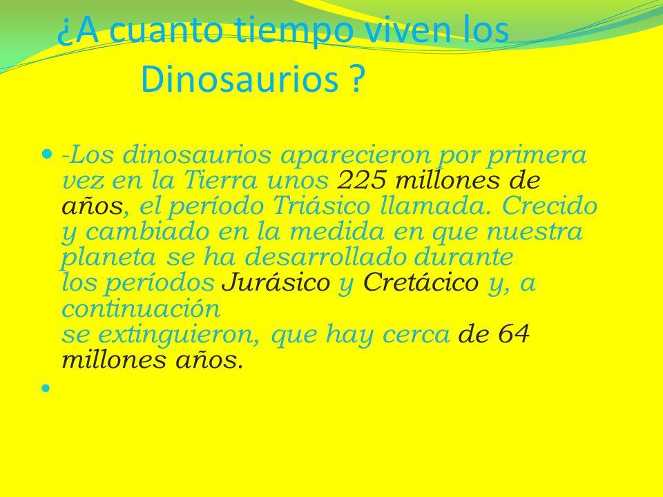 ¿A cuanto tiempo viven los Dinosaurios