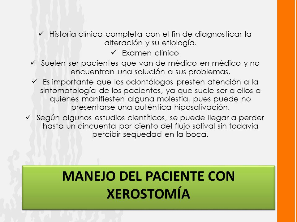 Manejo del Paciente con xerostomía