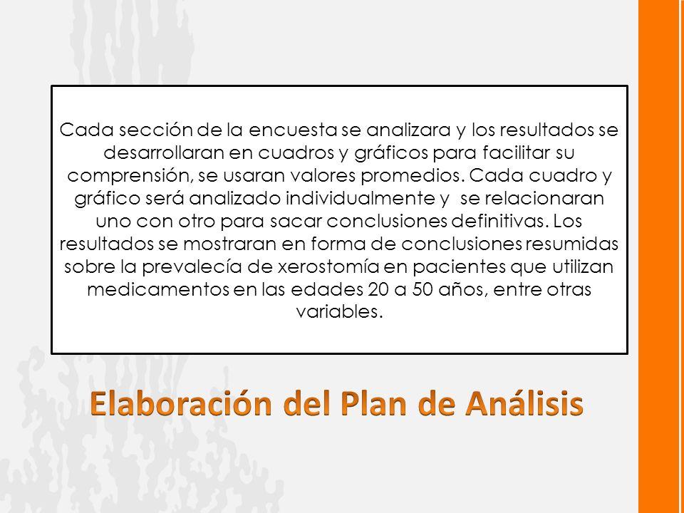 Elaboración del Plan de Análisis
