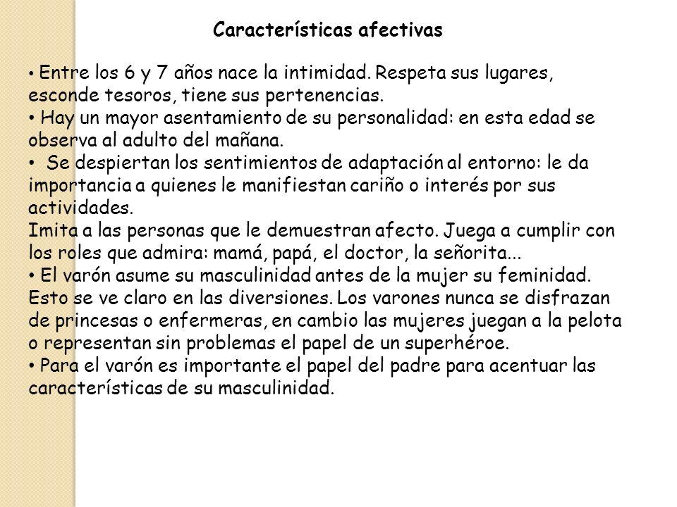 Características afectivas