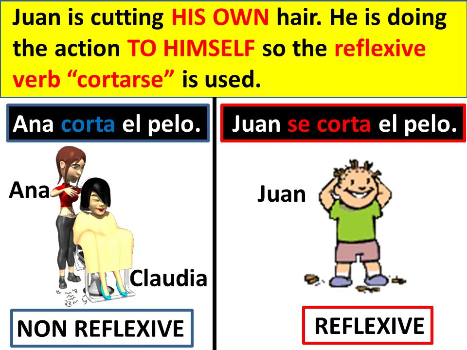 Juan is cutting HIS OWN hair