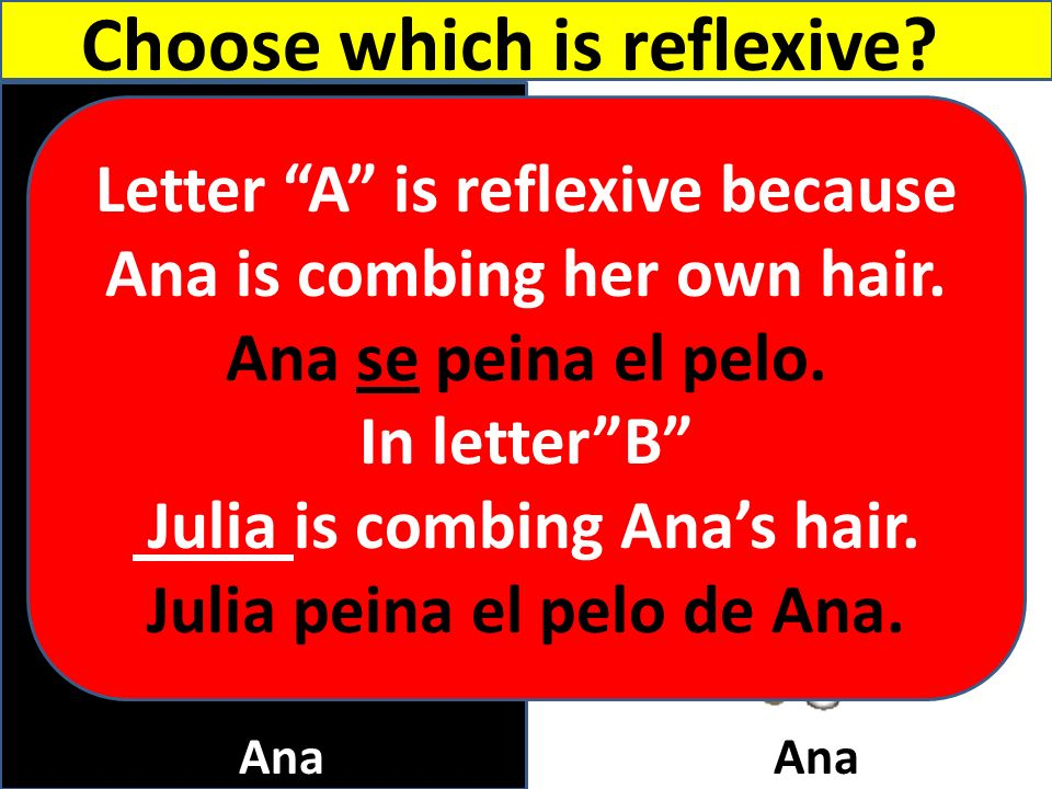 B A Choose which is reflexive Letter A is reflexive because