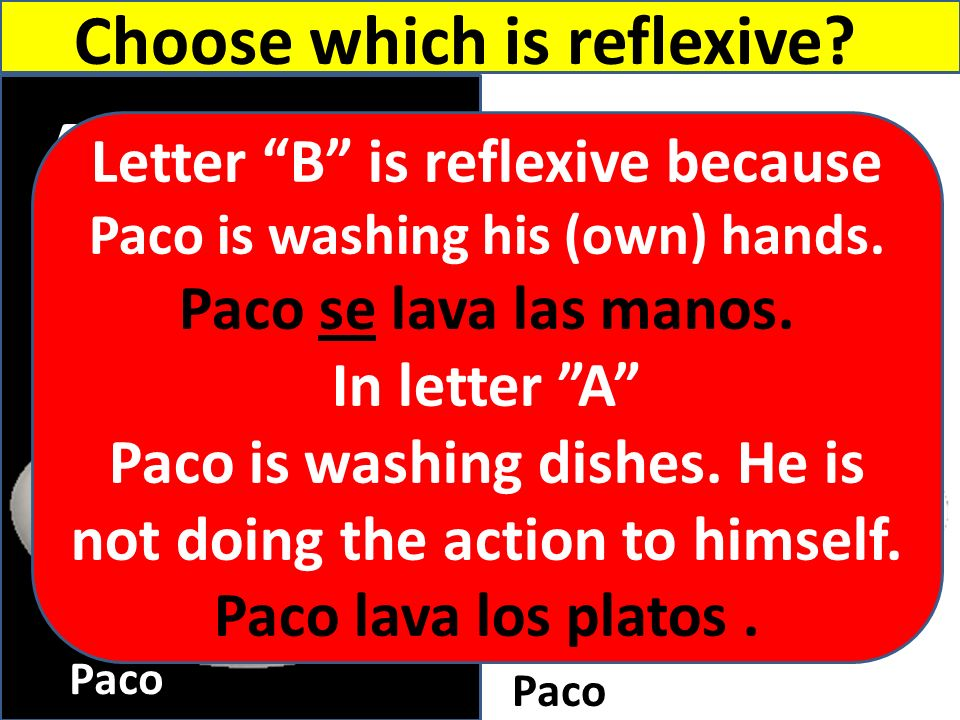 B A Choose which is reflexive Letter B is reflexive because