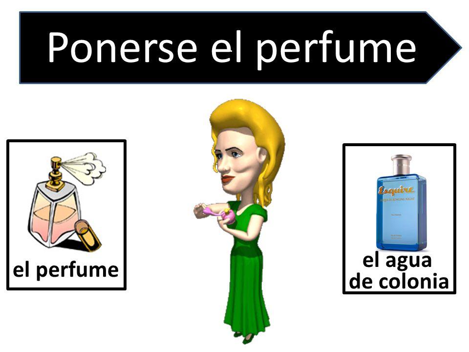 . Ponerse el perfume el agua de colonia el perfume