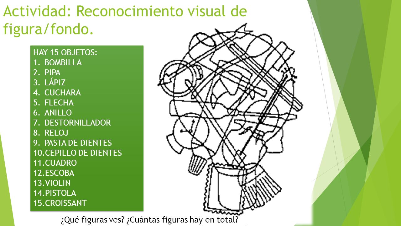 Actividad: Reconocimiento visual de figura/fondo.