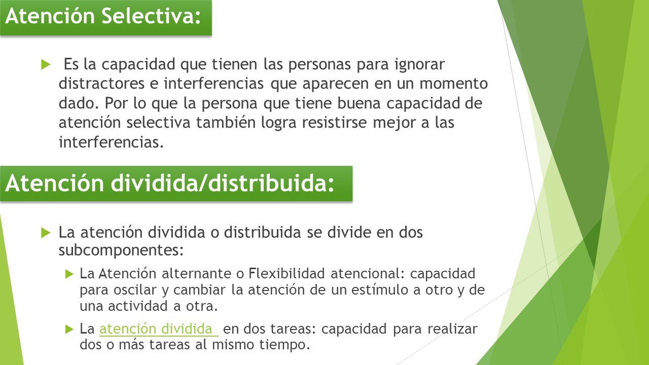 Atención dividida/distribuida: