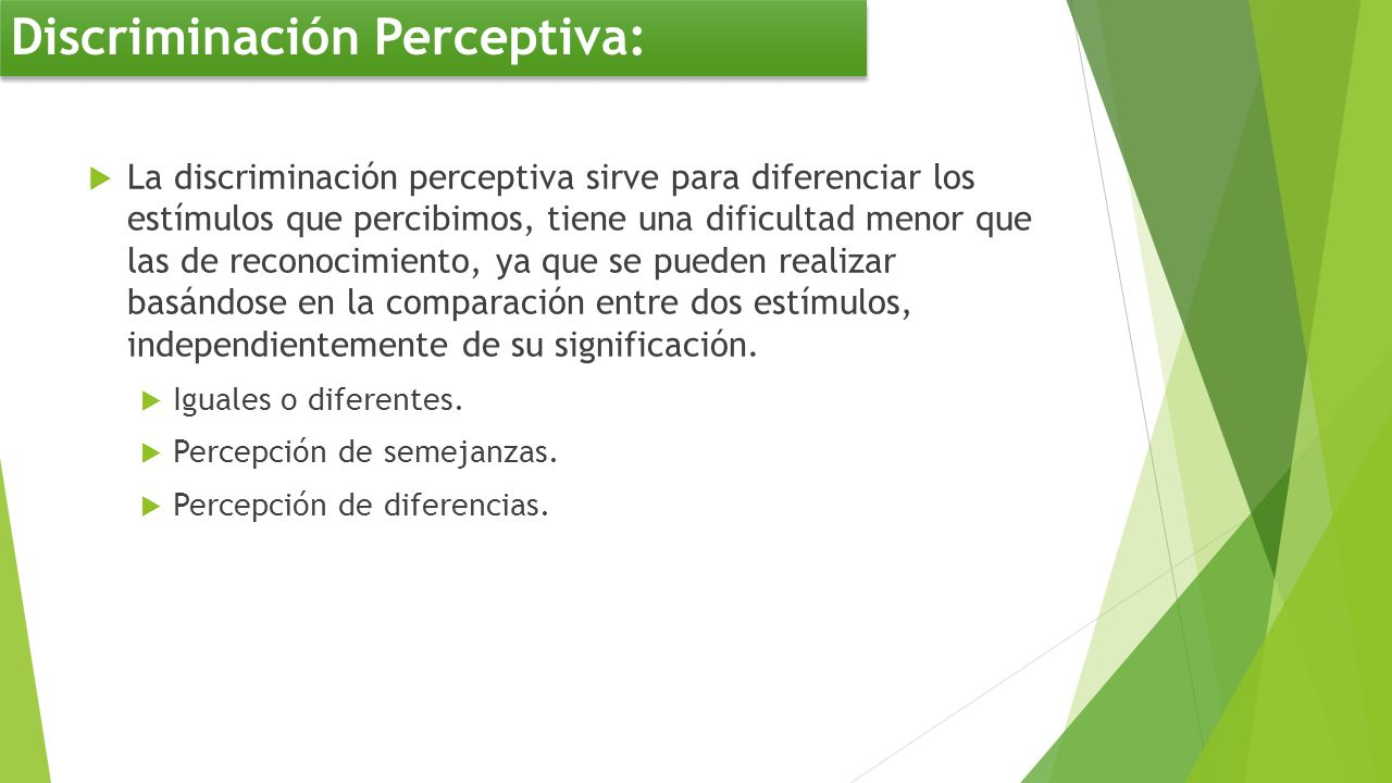 Discriminación Perceptiva: