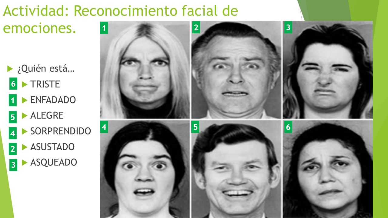 Actividad: Reconocimiento facial de emociones.