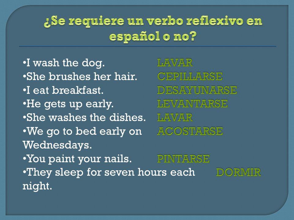 ¿Se requiere un verbo reflexivo en español o no