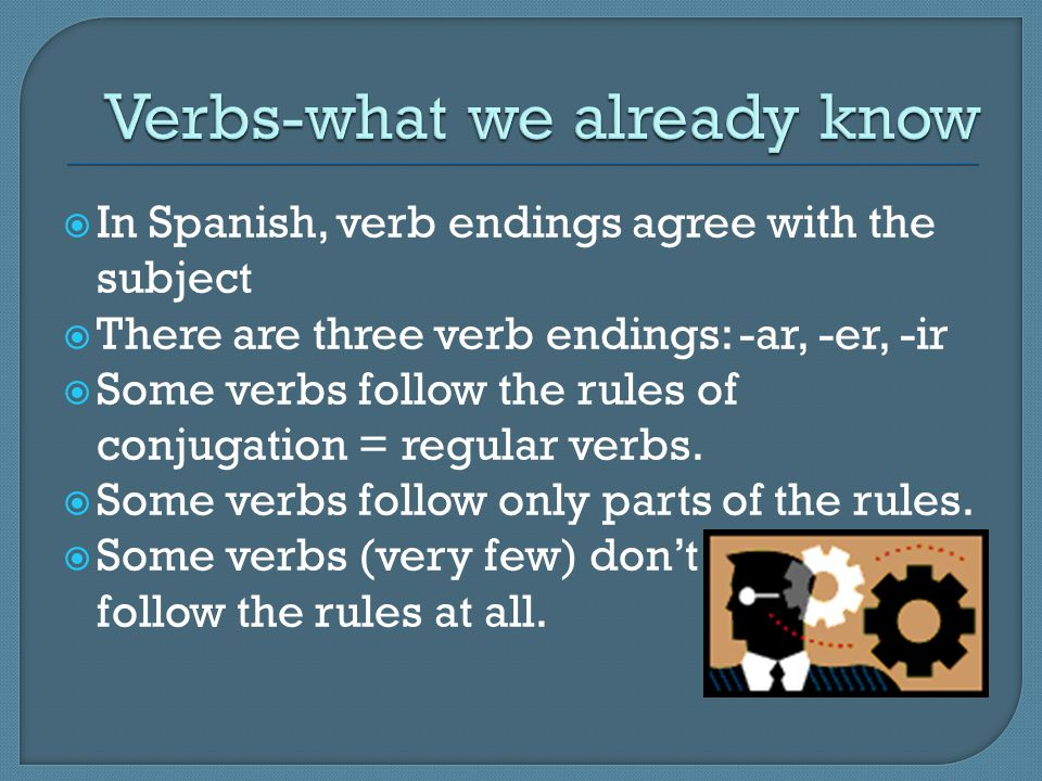Verbs-what we already know