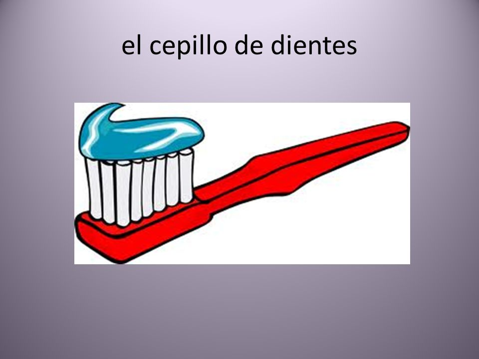 el cepillo de dientes