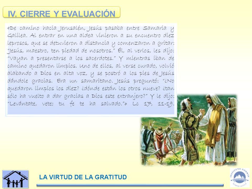 IV. CIERRE Y EVALUACIÓN
