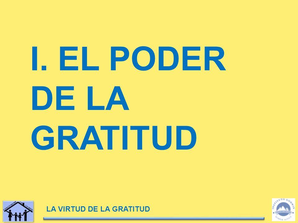 I. EL PODER DE LA GRATITUD