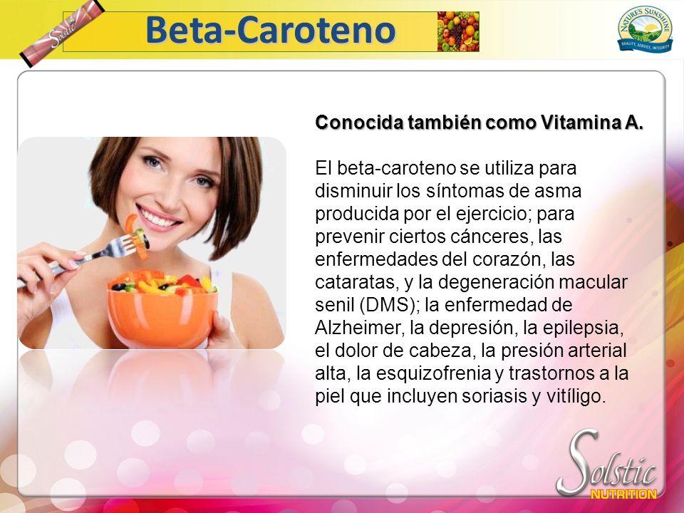 Conocida también como Vitamina A.