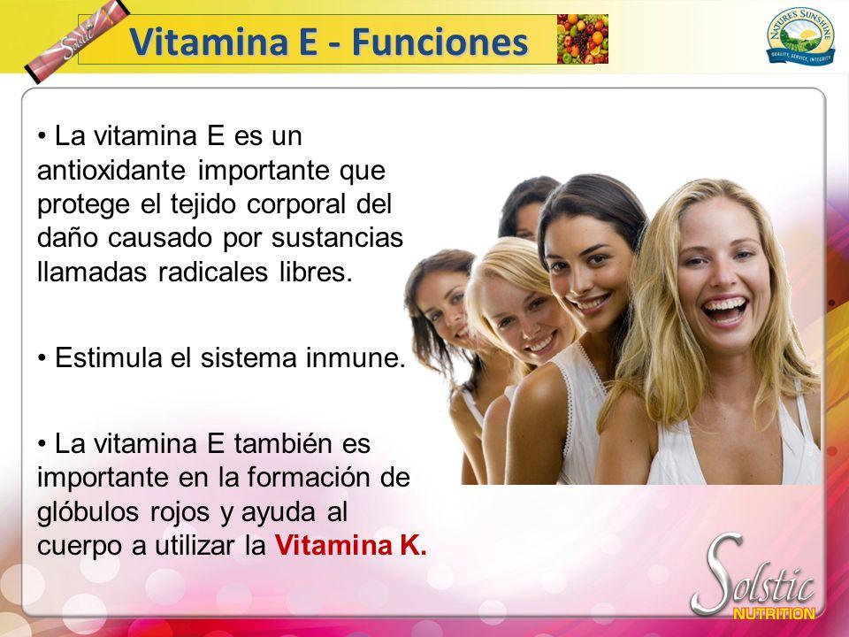 Vitamina E - Funciones