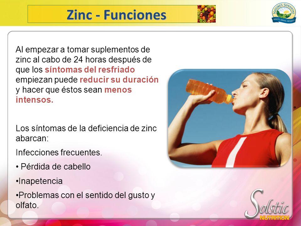 Zinc - Funciones
