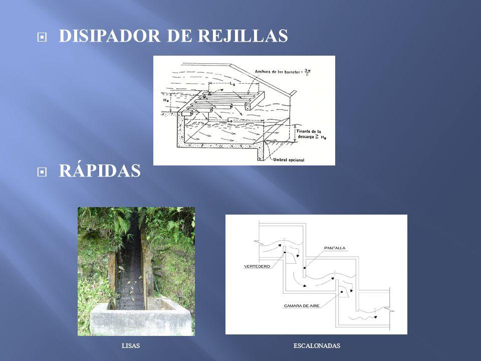 DISIPADOR DE REJILLAS RÁPIDAS LISAS ESCALONADAS