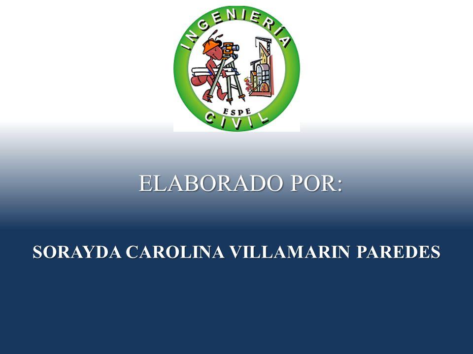 SORAYDA CAROLINA VILLAMARIN PAREDES