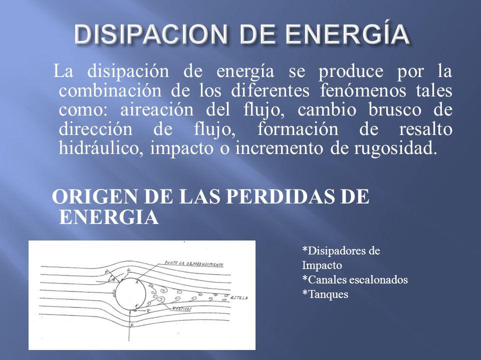 DISIPACION DE ENERGÍA