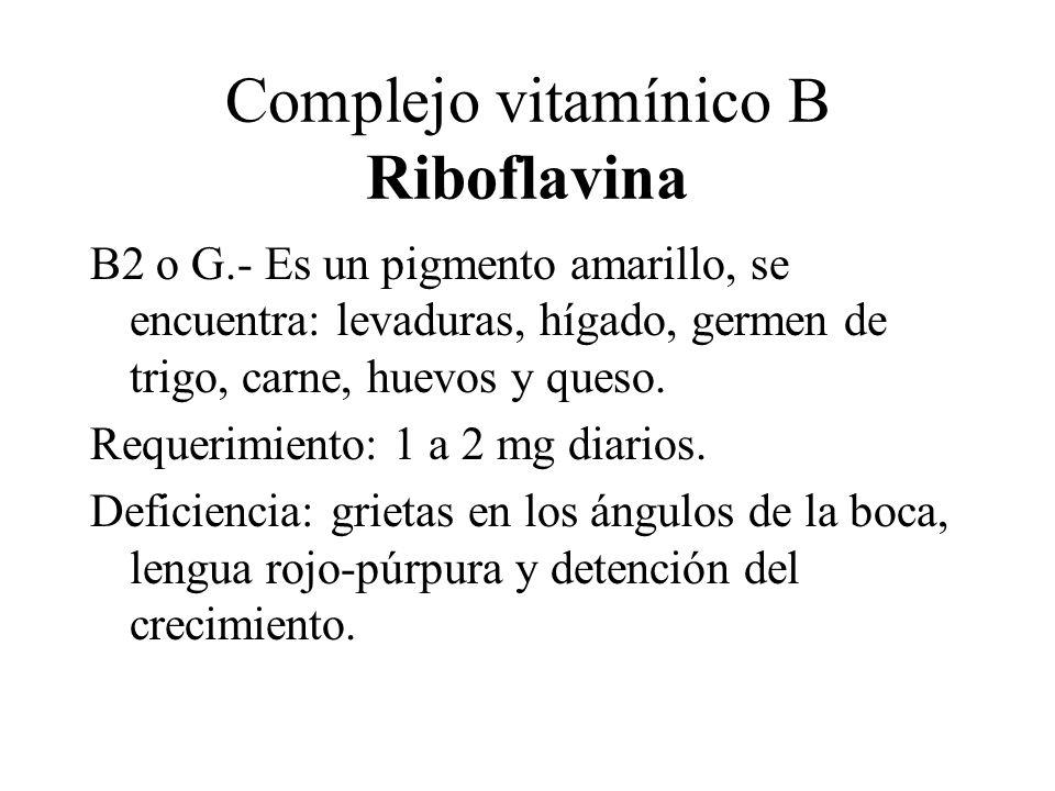 Complejo vitamínico B Riboflavina