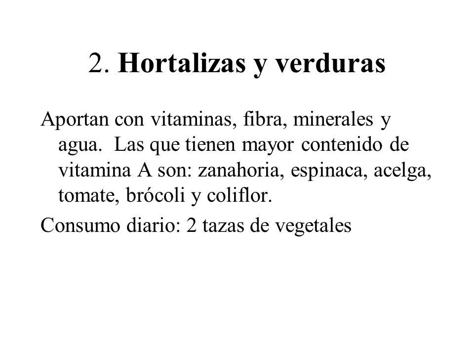 2. Hortalizas y verduras