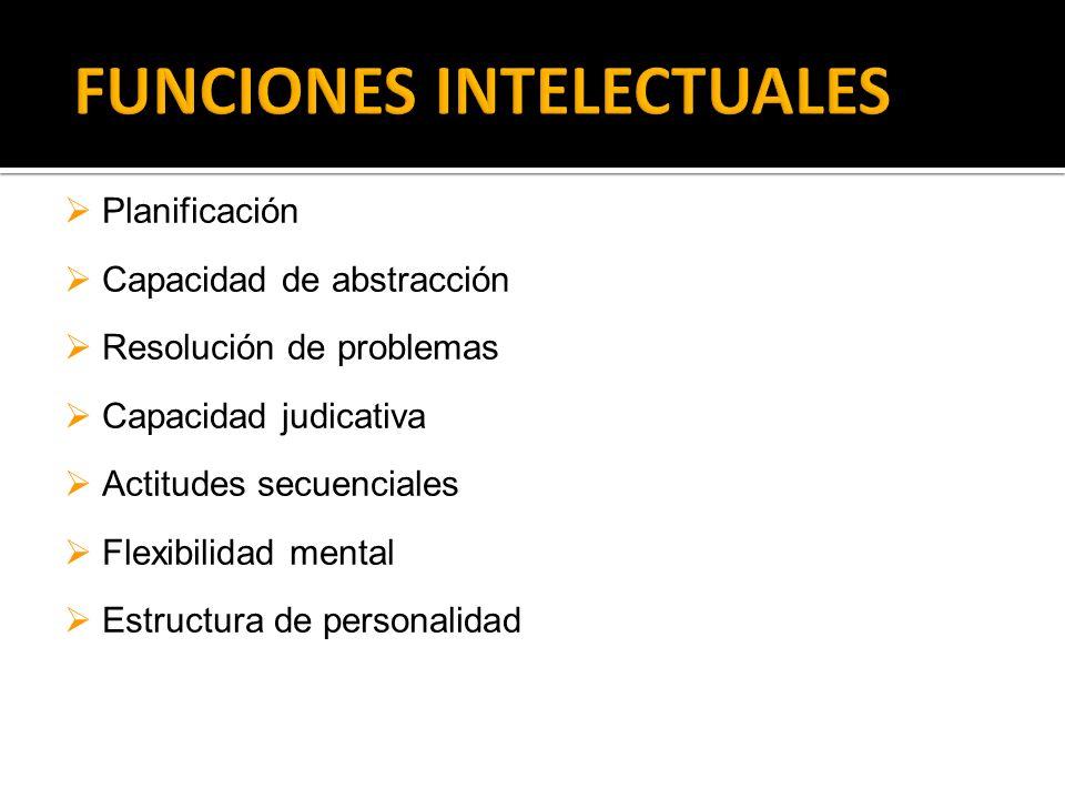 FUNCIONES INTELECTUALES