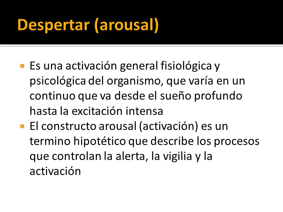 Despertar (arousal)