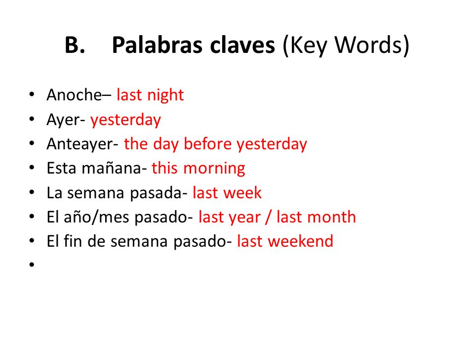B. Palabras claves (Key Words)