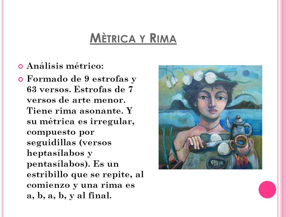 Mètrica y Rima Análisis métrico:
