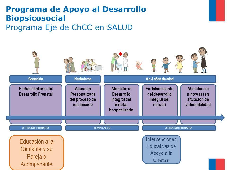 Programa de Apoyo al Desarrollo Biopsicosocial Programa Eje de ChCC en SALUD