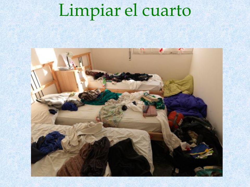 Limpiar el cuarto