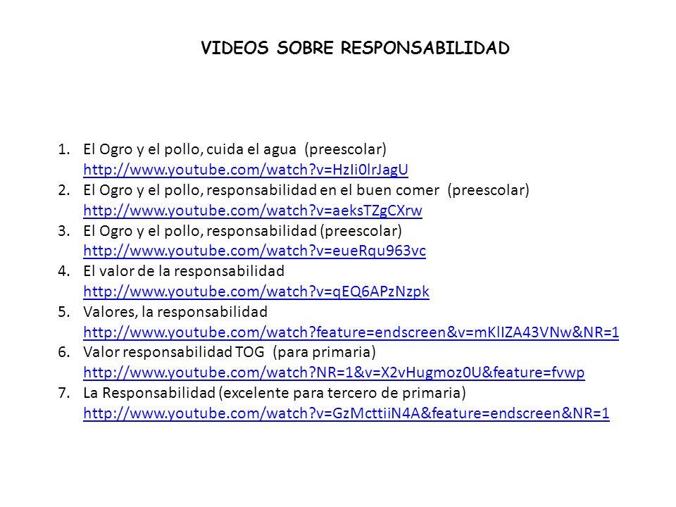 VIDEOS SOBRE RESPONSABILIDAD