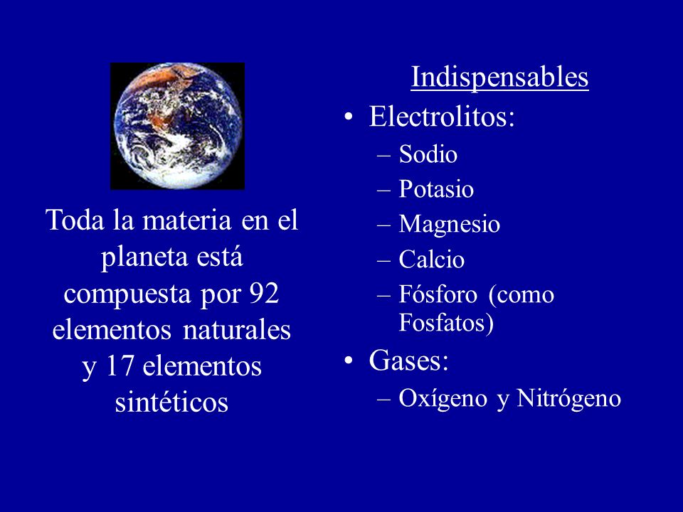 Indispensables Electrolitos:
