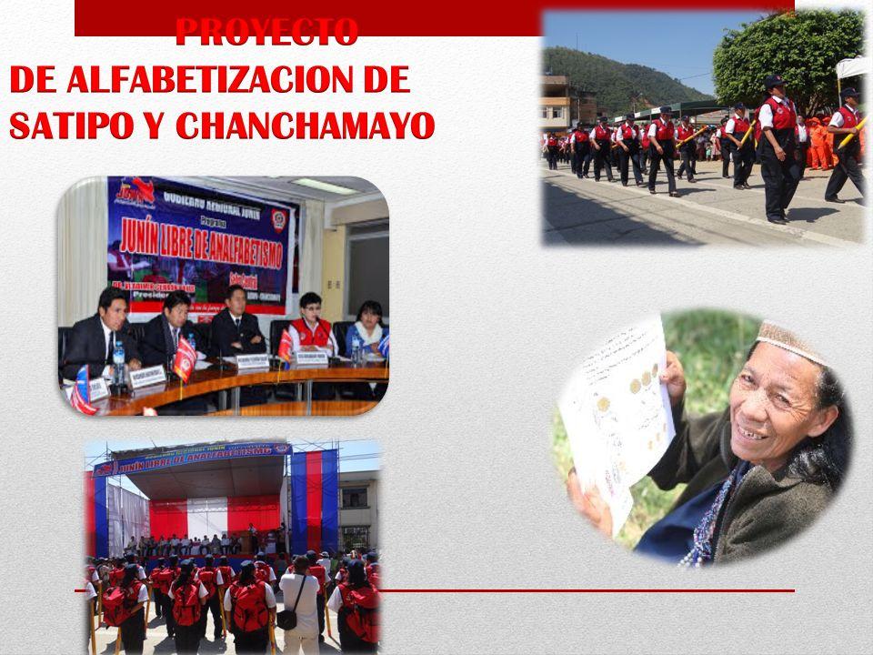PROYECTO DE ALFABETIZACION DE SATIPO Y CHANCHAMAYO