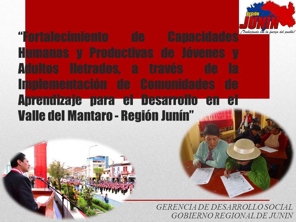 GERENCIA DE DESARROLLO SOCIAL GOBIERNO REGIONAL DE JUNIN