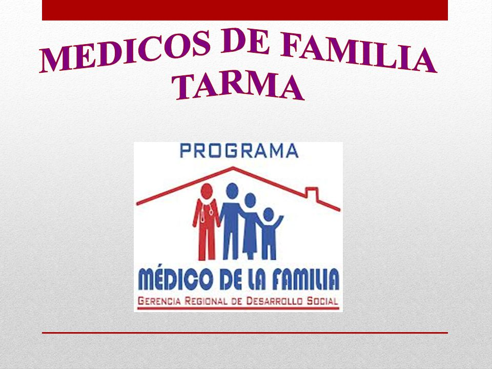 MEDICOS DE FAMILIA TARMA