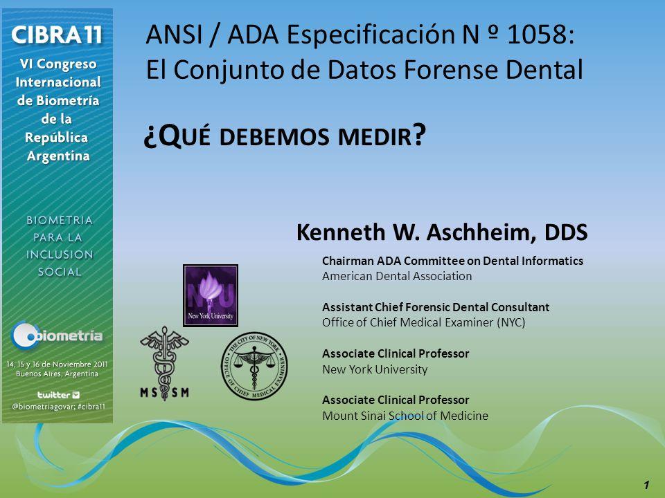 ¿Qué debemos medir ANSI / ADA Especificación N º 1058: